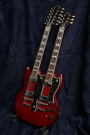 Epiphone G-1275 double neck guitar
