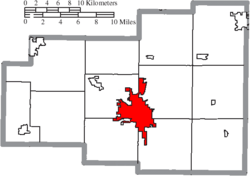 Location of Lima in Allen County