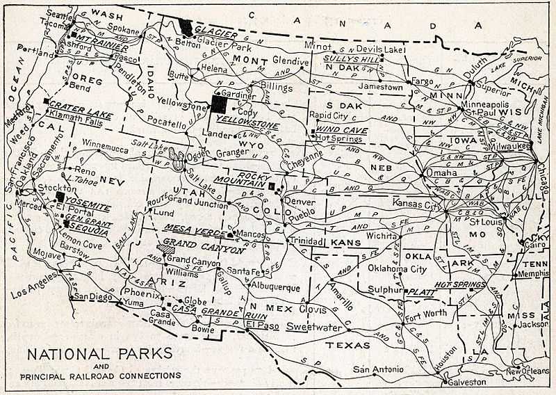 Natlparks and RRs 1916