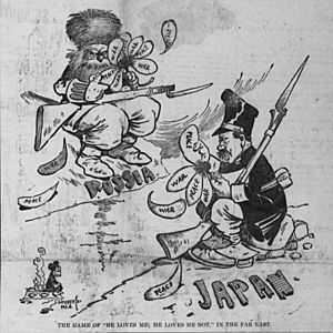 Satterfield cartoon about predicting the Russo-Japanese War