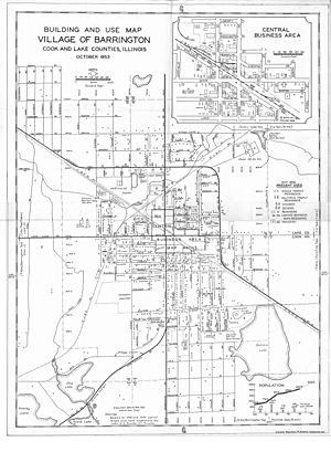 Village of Barrington Map 1953