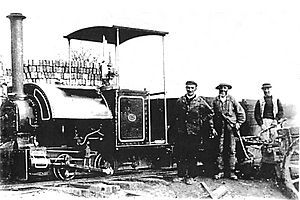 18in gauge 0-4-0ST Bagnall steam locomotive with modified Baguley valve gear built in 1899 for the Brede waterworks tramway in Sussex