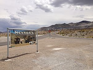 2014-07-28 12 08 05 Entrance to the Premier Magnesium Mine in Gabbs, Nevada
