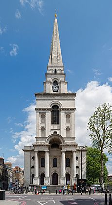 Christ Church exterior, Spitalfields, London, UK - Diliff