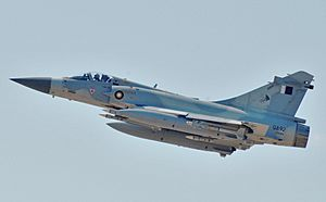 Dassault Mirage 2000-5 participating in Odyssey Dawn (cropped)