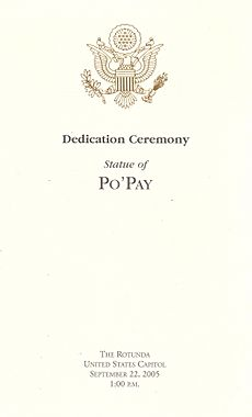 Dedication of Po'pay statue