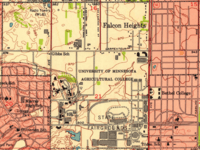 Falcon Heights, Minnesota, map (1951)
