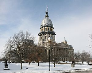 Illinois State Capitol pano
