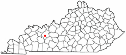 Location of Beaver Dam, Kentucky