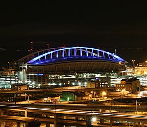 Qwest Field Nighttime
