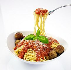 Spaghetti with Meatballs (cropped)