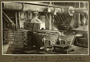 StateLibQld 2 256762 Blast furnaces 1-2, Interior view of part of the smelter at Mt. Isa Mines, 1932