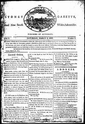The Sydney gazette and New South Wales advertiser-first issue 5 March 1803