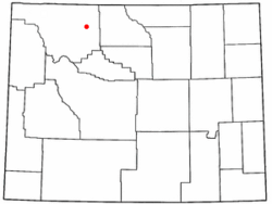 Location of Cody in Wyoming