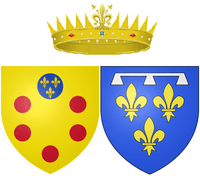 Arms of Marguerite Louise d'Orléans as Grand Duchess of Tuscany
