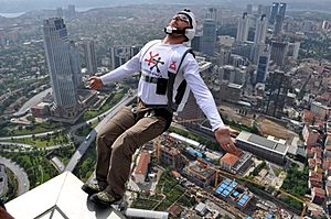 BASE Jumping from Sapphire Tower in Istanbul