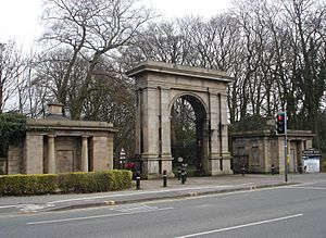 Haigh Park entrance and lodges, Wigan