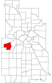 Location of Kenwood within the U.S. city of Minneapolis