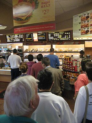 Typical queue at Tim Hortons