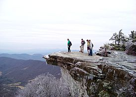 VT Students on McAfee's Knob during winter - panoramio