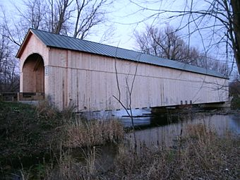 Cedar Swamp Covered Bridge, Salisbury, Vermont.jpg