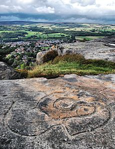 Cup and Ring markings above Ilkley