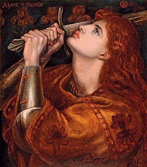 Dante Gabriel Rossetti - Joan of Arc (1882)