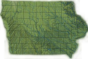 Iowa topography