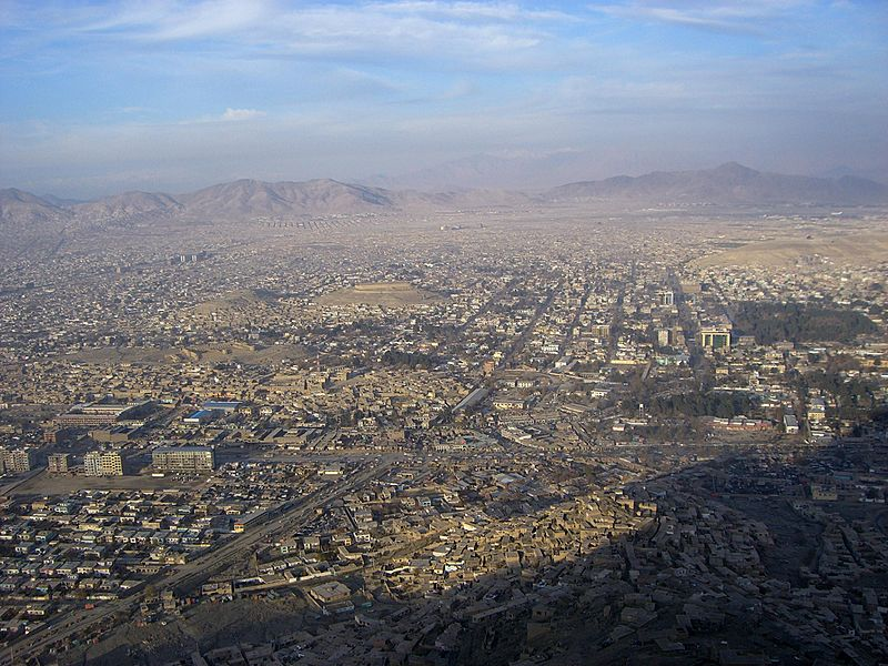 Kabul TV Hill view
