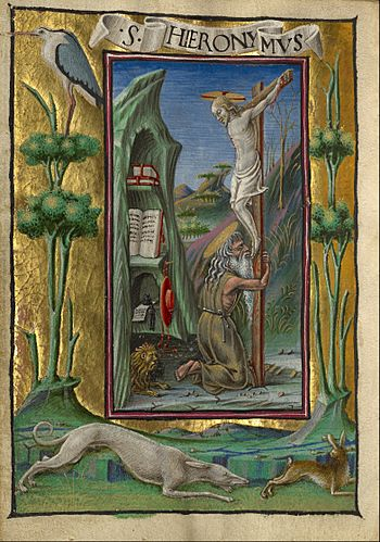 Taddeo Crivelli (Italian, died about 1479, active about 1451 - 1479) - Saint Jerome in the Desert - Google Art Project