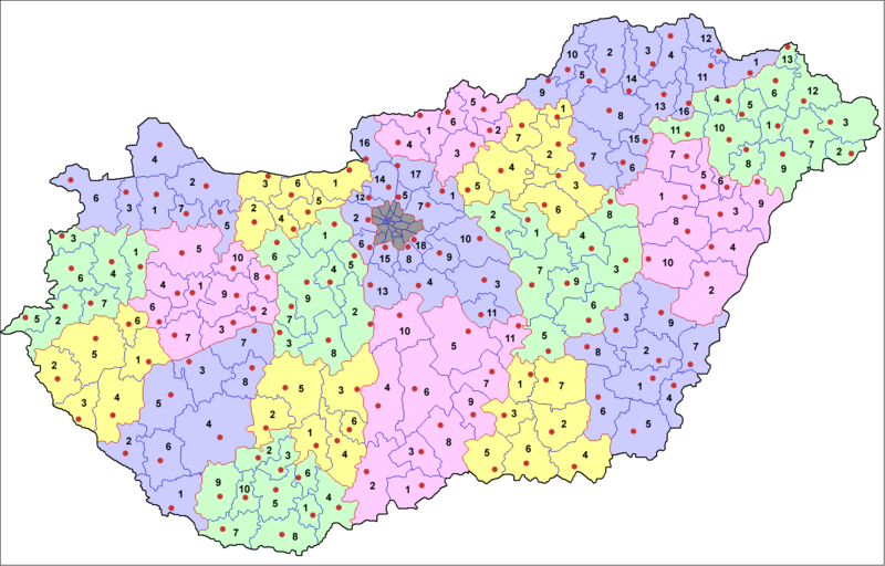 Townships (districts) of Hungary