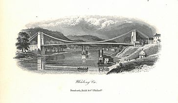Wheeling Suspension Bridge Lithograph