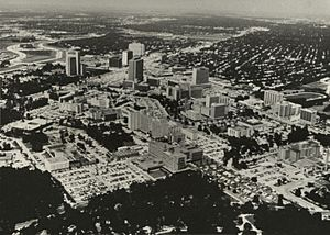 Aerial photograph of Houston