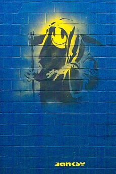 Banksy - Grin Reaper With Tag