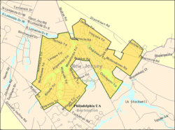 Census Bureau map of Medford Lakes, New Jersey