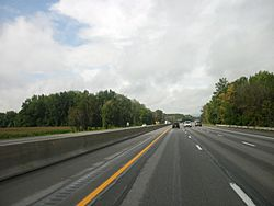 On the Ohio Turnpike in the township's northwest