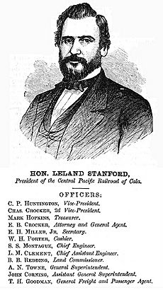 Leland Stanford and CPRR Officers 1870