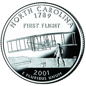 North Carolina quarter, reverse side, 2001