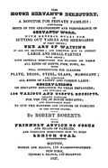 Robert Roberts The House Servant's Directory 1827 Book Cover