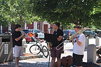 Street musicians in Portsmouth, NH IMG 2667