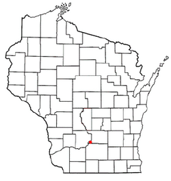Location of West Point, Wisconsin