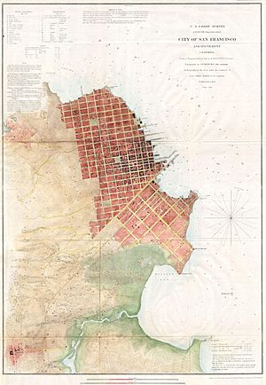 1853 U.S.C.S. Map of San Francisco, California ^ Vicinity - Geographicus - SanFrancisco3-uscs-1853