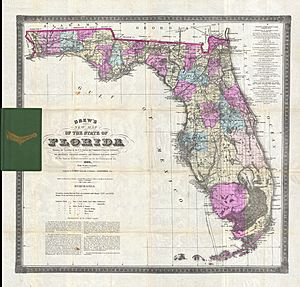 1884 Drew Pocket Map of Florida - Geographicus - Florida-drew-1884
