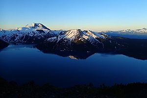 Garibaldi Lake from Panorama Ridge at Dawn