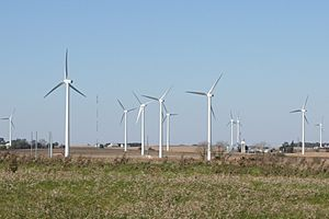 Illinois wind farm near I-39 exit 82