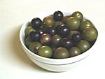 Muscadines.Scuppernongs