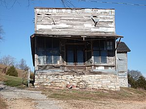 Old store building in Jamesville, Stone County, Missouri