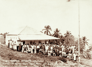 Queensland State Archives 2531 Murray Island court house and people 1898