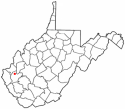 Location of Hamlin, West Virginia