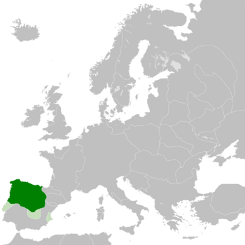 The Kingdom of León (Green) in 1095.